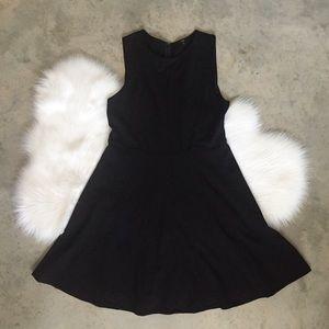 Tibi New York Solid Black Shift Dress Size 12